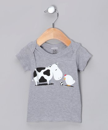 Heather Gray A Birth Day Lapneck Tee - Infant