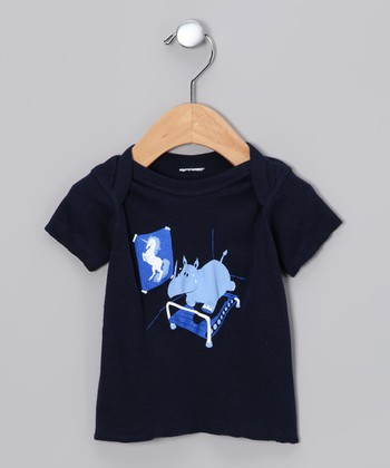 Navy Runnin' Rhino Lapneck Tee - Infant