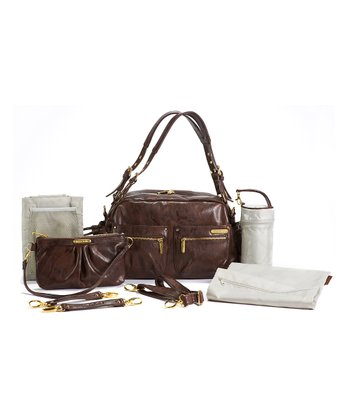 Cocoa Brown Jessica Diaper Bag
