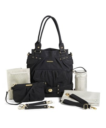 Velvet Black Louise Diaper Bag