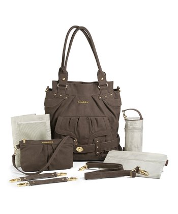 Mushroom Brown Louise Diaper Bag