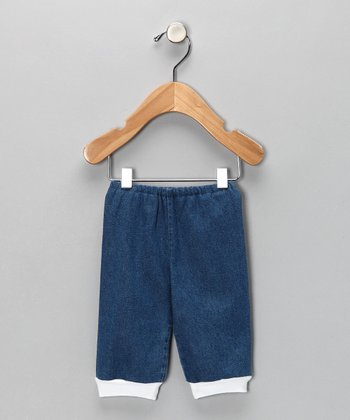 Blue Denim Cuff Pants - Infant