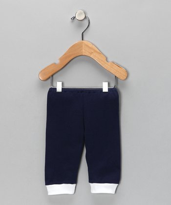 Navy Cuff Pants - Infant