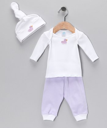 Lavender Duck Tee Set - Infant