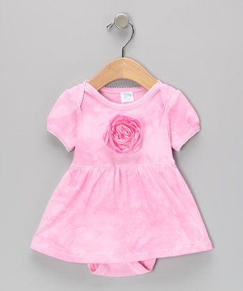 Pink Rose Skirted Bodysuit