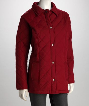 Totes Rhubarb Diamond Quilted Jacket