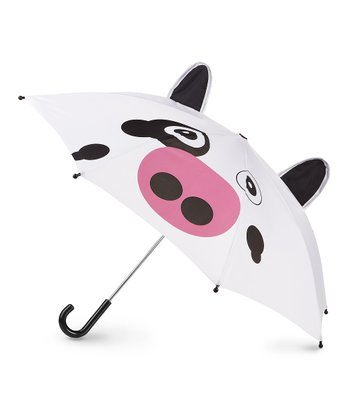 White & Black Cow Pop-Up Umbrella