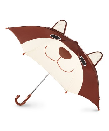 Brown Bear Pop-Up Umbrella