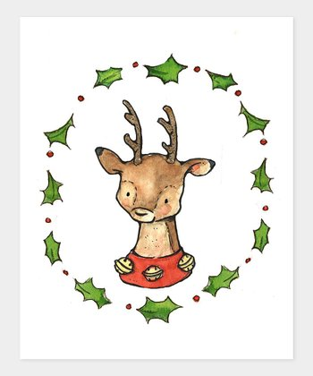 Holly Jolly Reindeer Print