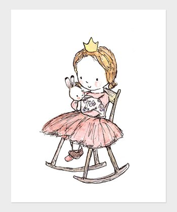 Light Brown-Haired Girl Royal Lullaby Print