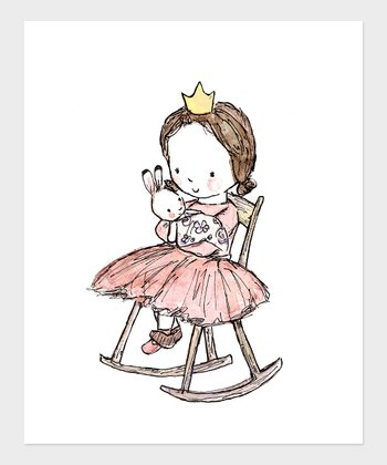 Brown-Haired Girl Royal Lullaby Print