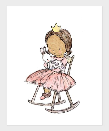 Dark Brown-Haired Girl Royal Lullaby Print