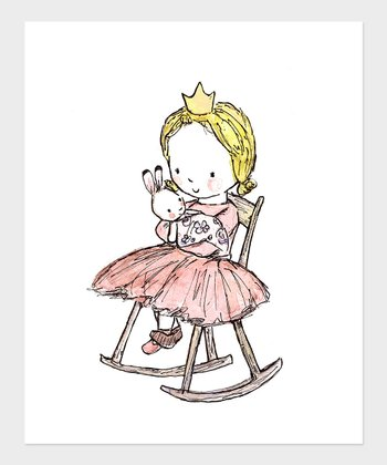 Blonde Girl Royal Lullaby Print