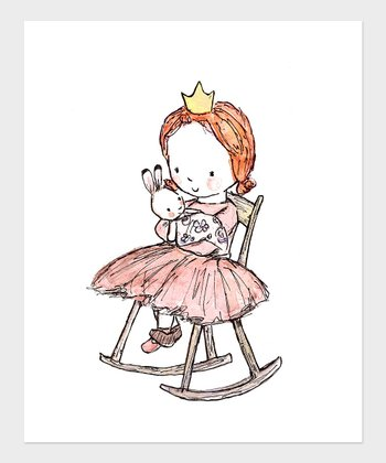 Red-Haired Girl Royal Lullaby Print