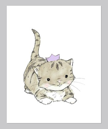 Lavender Royal Kitten Print
