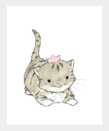 Pink Royal Kitten Print