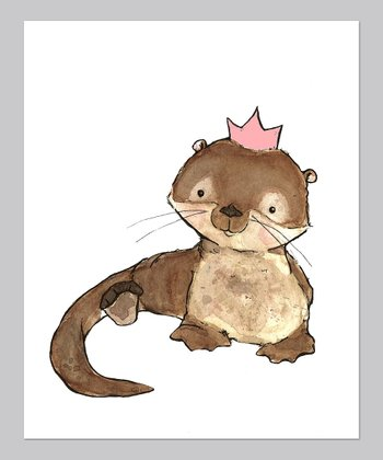 Strawberry Royal Otter Print