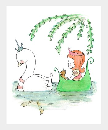 trafalgar's square Red-Haired Swan Princess Print