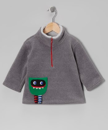Gray Monster Pullover - Toddler & Boys