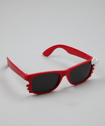 Red & White Kitten Bow Sunglasses