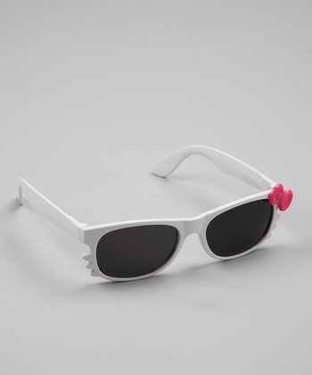 White Kitten Bow Sunglasses
