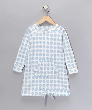 Baby Blue Organic Sweatshirt Dress - Infant