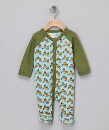 Green Owl Organic Footie - Infant