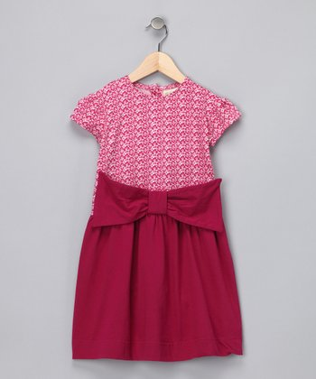 Pink Leopard Bow Organic Dress - Infant & Toddler