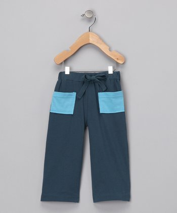Dark Blue Vintage Organic Pants - Infant, Toddler & Boys