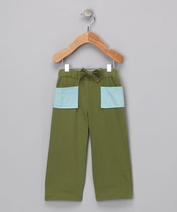 Olive Green Vintage Organic Pants - Infant, Toddler & Boys