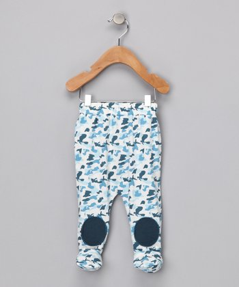 Camo Patch Organic Footie Pants - Infant
