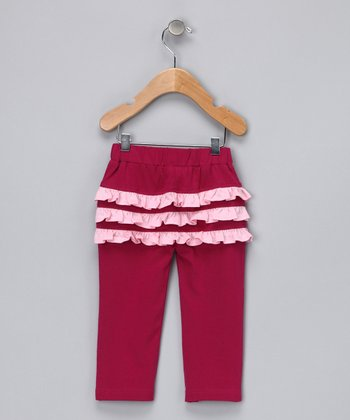 Hot Pink Organic Ruffle Bum Pants - Infant, Toddler & Girls