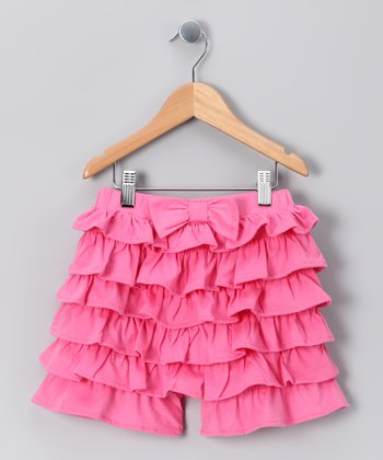 Pink Organic Ruffle Shorts - Infant & Girls