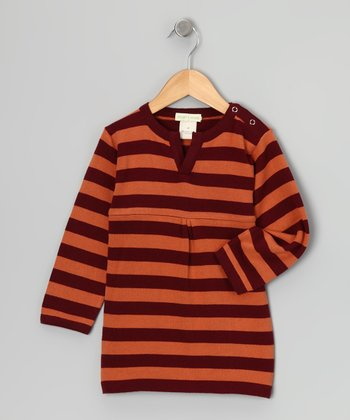 Russet Stripe Sweater Organic Babydoll Tunic - Infant