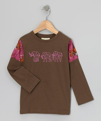 Caper Elephant Organic Puff-Sleeve Tee - Infant
