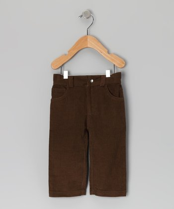 Brown Caper Corduroy Organic Pants - Infant