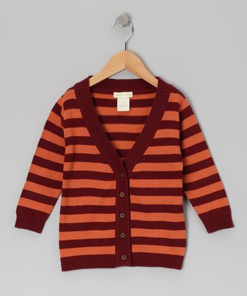 Russet Stripe Sweater Organic Cardigan - Infant & Toddler