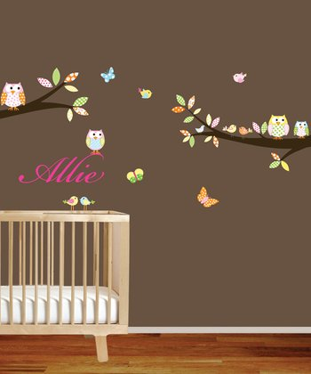 Personalized Branch Wall Decal Set