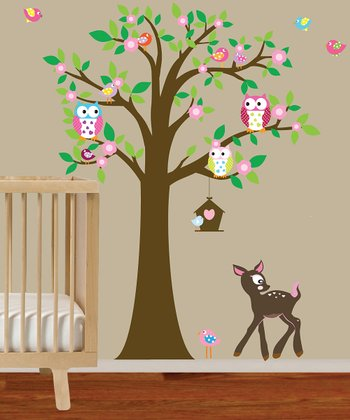 Flower Tree Wall Decal Set