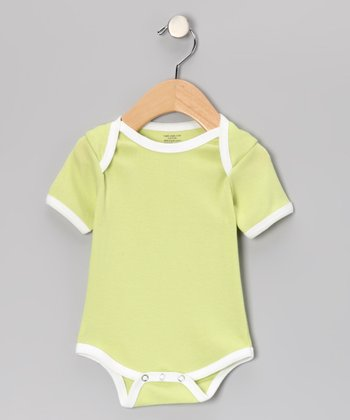 Lime & White Organic Bodysuit - Infant
