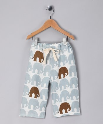 Blue Elephant Linen Pants