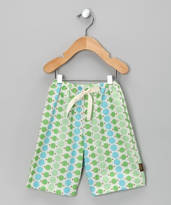 Blue & Green Polka Dot Pants
