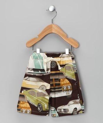 Brown Classic Car Pants
