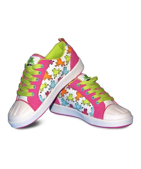 Pink & Green Frog Paintable Sneakers