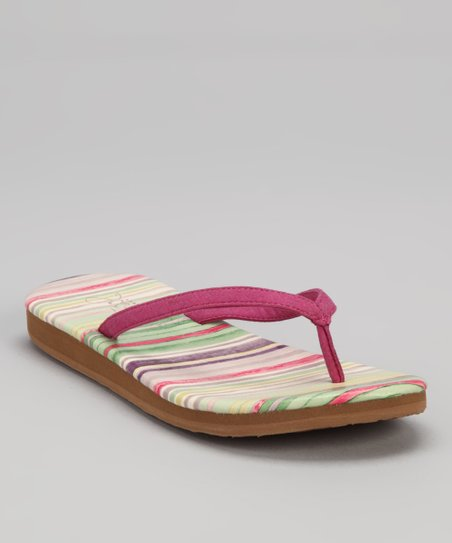 Berry Stripe Nipo Flip-Flop - Women