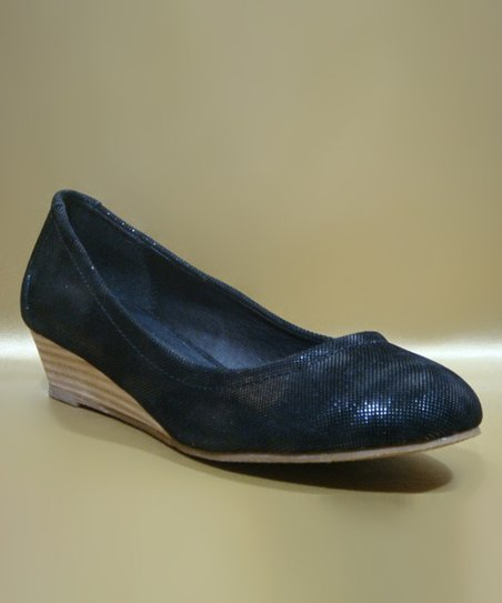 Black Harper Wedge Pump