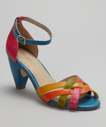 Rainbow Nirvana Ankle-Strap Peep-Toe Shoe