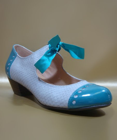Blue & Gray Sofia Pump