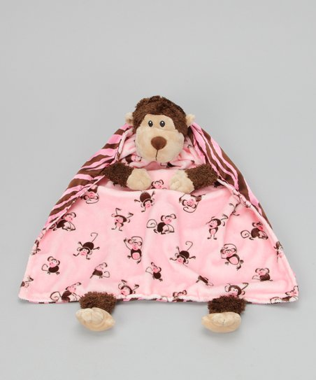 Pink Monkey Blanket Critter