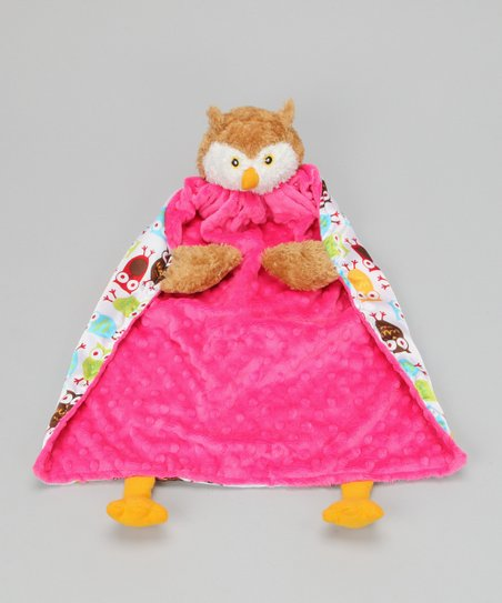 Hot Pink Owl Blanket Critter